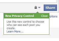 Facebook Update Privacy Warning