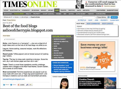 Times April 2010