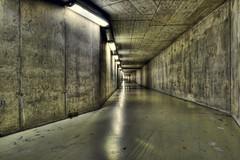 Tunnel from Riget to Panum (Lens Adventurer) Tags: urban hospital lens nikon industrial infiltration exploration hdr adventurer urbex cs3 d90 photomatrix