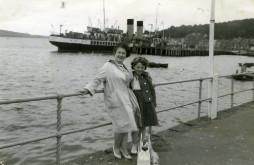 Jean and Carol Day at Rothesay 1960