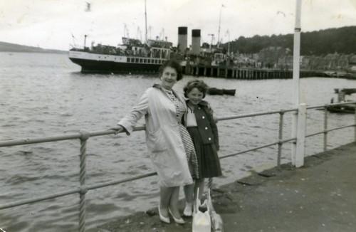 Jean and Carol Day at Rothesay 1960