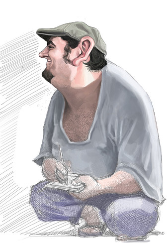 digital sketch of Jaume Cullell - 7