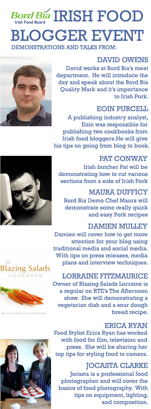 :: Irish Food Bloggers Event: Details!