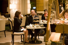 Afternoon Tea and Live Entertainment at The Palm Court (The Drake Hotel Chicago) Tags: afternoontea palmcourt drakehotel harpist drake11 dopplr:stay=l231