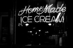 Home Made Ice Cream (Jeremy Brooks) Tags: sanfrancisco california blackandwhite bw food usa blackwhite neon icecream photowalk missiondistrict themission sanfranciscocounty photowalking dspw032010