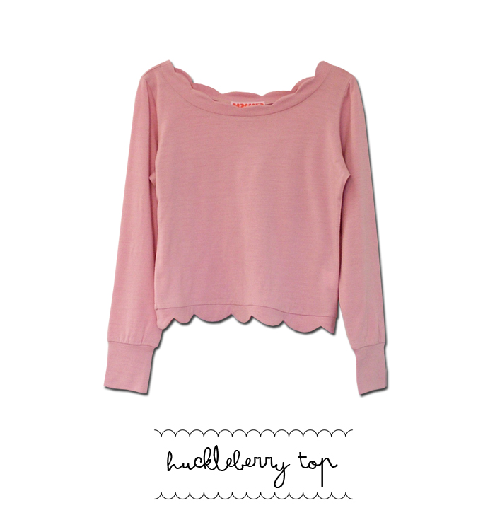 huckleberry top pink