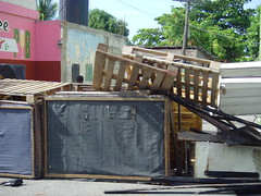 The barricades across all entrances into Tivoli Gardens in Kingston Jamaica (bbcworldservice) Tags: world school girls boys gardens tivoli town athletics downtown assignment champs christopher coke lord kingston bbc jamaica drug service 2010 denham dudus
