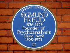 Photo of Sigmund Freud blue plaque