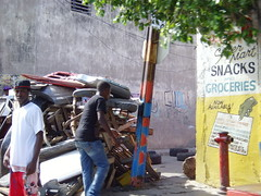 Tivoli Gardens, Kingston Jamaica is tense following the PM's decision to allow the extradition request for Christopher Coke (bbcworldservice) Tags: world school girls boys gardens tivoli town athletics downtown assignment champs christopher coke lord kingston bbc jamaica drug service 2010 denham dudus