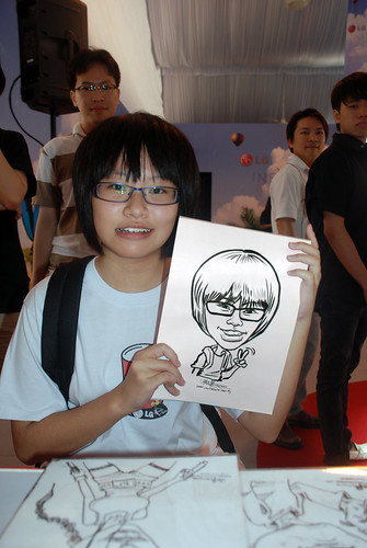 caricature live sketching for LG Infinia Roadshow - day 1 - 2