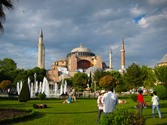Hagia Sofia with Cloudy Sky