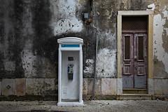 Choices (Pensiero) Tags: door wood public wall stand phone box lisboa lisbon telephone porta choices telefono lisbona legno pubblico scelte