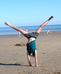 Cartwheeling on the Beach