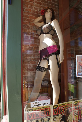 burlesque mannequin in store window by ceck0face