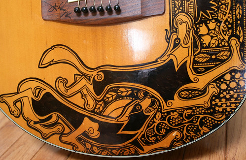 Wolves on the Second Sharpie Guitar