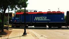 Northbound Metra local departing Northbrook Illinois. Wednsday, May 26th  2010.