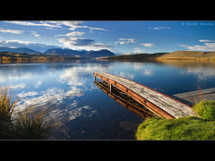 lake alexandrina #2 (Daniel Murray (southnz)) Tags: autumn newzealand lake reflection water landscape scenery basin explore mackenzie nz southisland tekapo alexandrina southnz