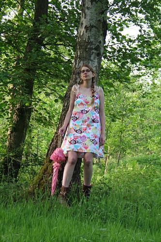 Technicolor tea dress