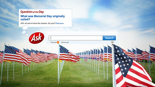 Ask.com on Memorial Day