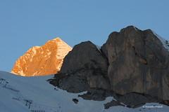 Marmolada early in the morning sun - EXPLORE -