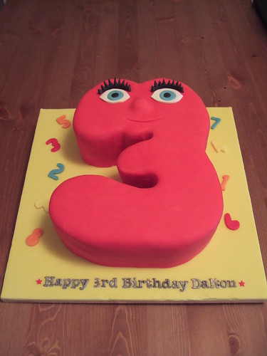 Numberjacks Number 3 Birthday Cake
