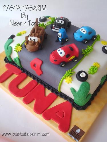 Astounding Disney Cars Birthday Cake Tuna A Photo On Flickriver Personalised Birthday Cards Veneteletsinfo