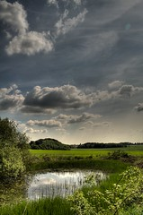 A Time to Reflect (stewie25)) Tags: skyline clouds landscape pond 1855mm hdr waterreflection tonemapped nikond5000