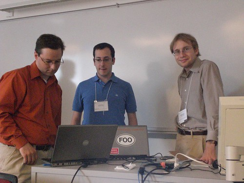 Derek Hansen, Scott Golder and Vladimir Barash at HCIL Government and Social Media Workshop