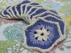 WIP: grannyhex blanket