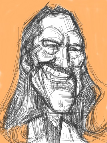 digital iPad sketch of Danny Trejo - 4