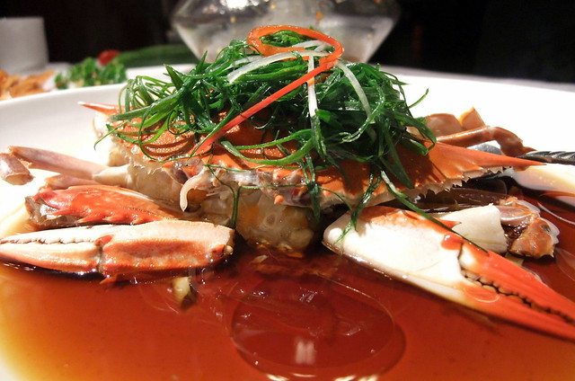Steam Crab with Soy and Onion Oil