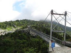 Mile High Swinging Bridge from the Far Side
