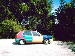 multi-colored car, highland park, near lucas, texas