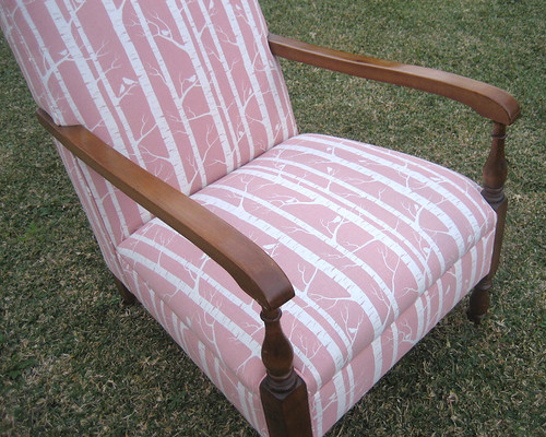Dusty Pink Birch chair