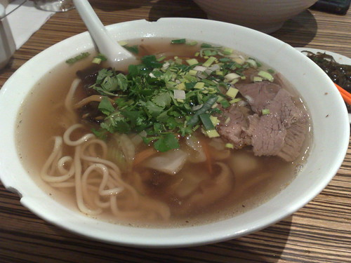 combination noodles with beef