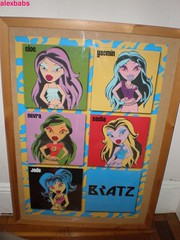 yay! Dad finally framed my Bratz poster I got last week! (alexbabs1) Tags: poster collection jade sasha yasmin chic rockin bratz cloe nevra