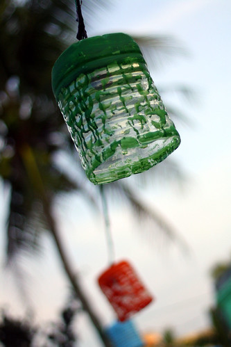 Plastic bottle lanterns