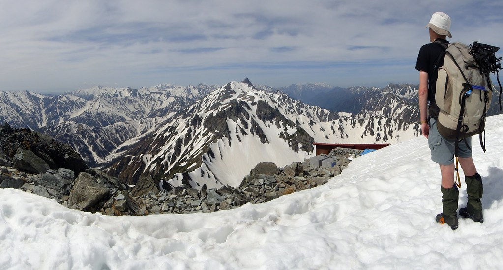 Panorama from summit of Kita Hodaka