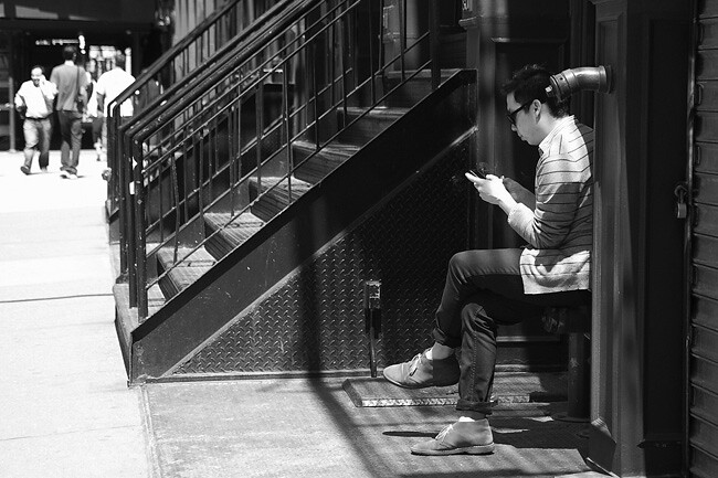 Texting, NYC