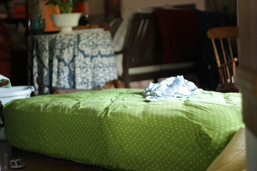 matress in the living room