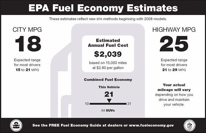 EPA sticker
