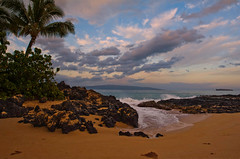 New Day (mojo2u) Tags: ocean sunset beach hawaii pacific cove secretbeach maui makena makenacove nikond700 nikon2470