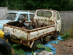 Honda Acty pick up (Mr Lobster) Tags: uk abandoned up honda rust pick wreck scrap 2010 acty
