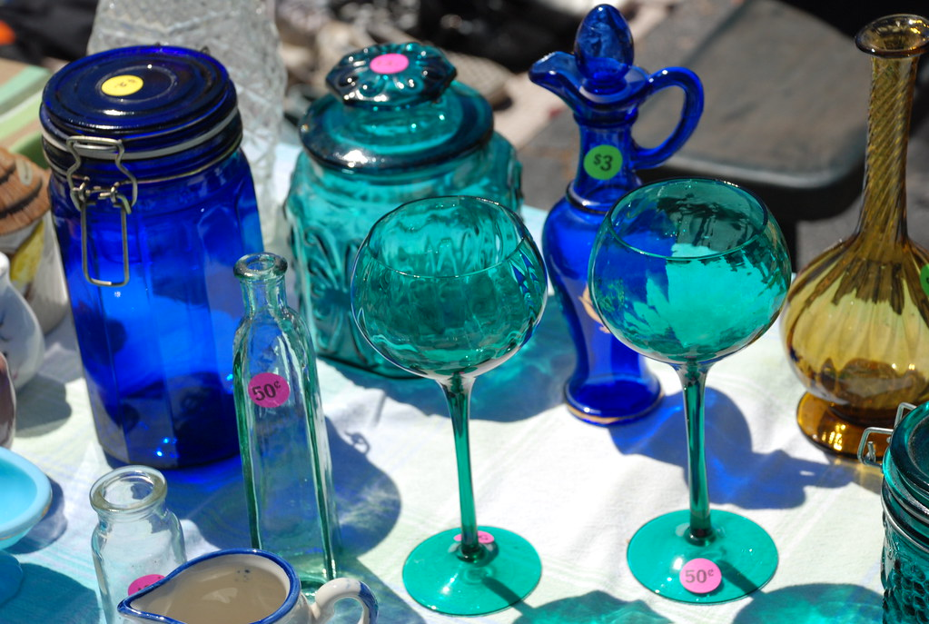 I felt these aqua wine chalices calling to me