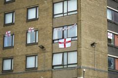 44 years.... (The Blue Boy) Tags: england flags finepix fujifilm salford comeonengland chavbastard