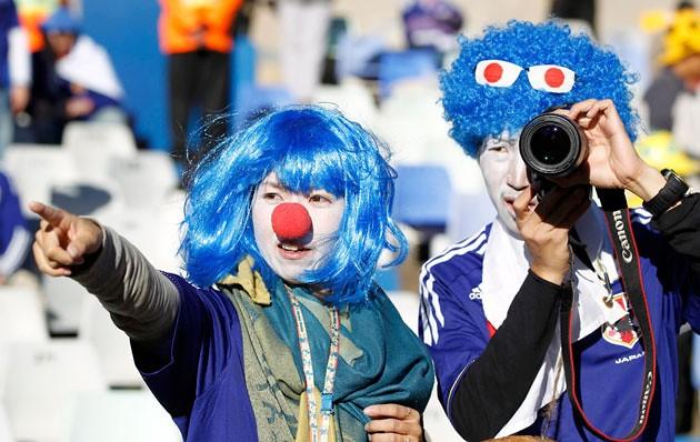 Mundial Sudáfrica hinchas freak reporteros disfrazados de Japón