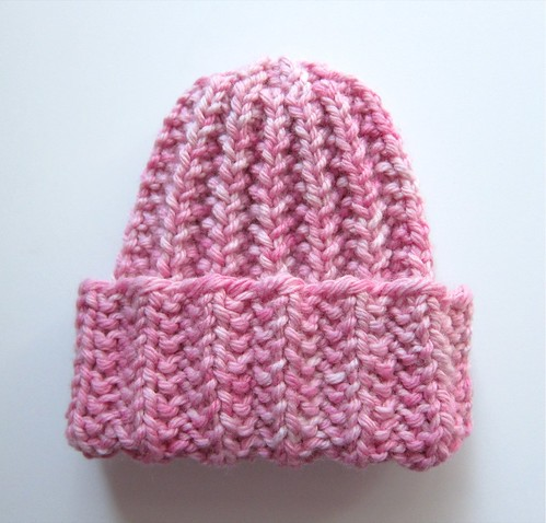 Too-Small Fool-Proof Baby Hat in Kettle-Dyed Pink