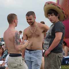 More from The Downs (CharlesFred) Tags: shirtless england june tattoo back racing jeans horseracing spectators epsom derbyday epsomdowns workforcesderby thederbyderby derbycrowd
