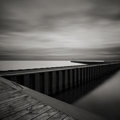 Zig Zag (Jeff Gaydash) Tags: longexposure blackandwhite water square pier seascapes michigan greatlakes upperpeninsula lakesuperior zigzag whitefishpoint lakescapes nd110