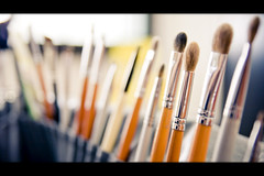The Brushes (darakusan) Tags: sony makeup brushes alpha tamron 169 a700 1750mm